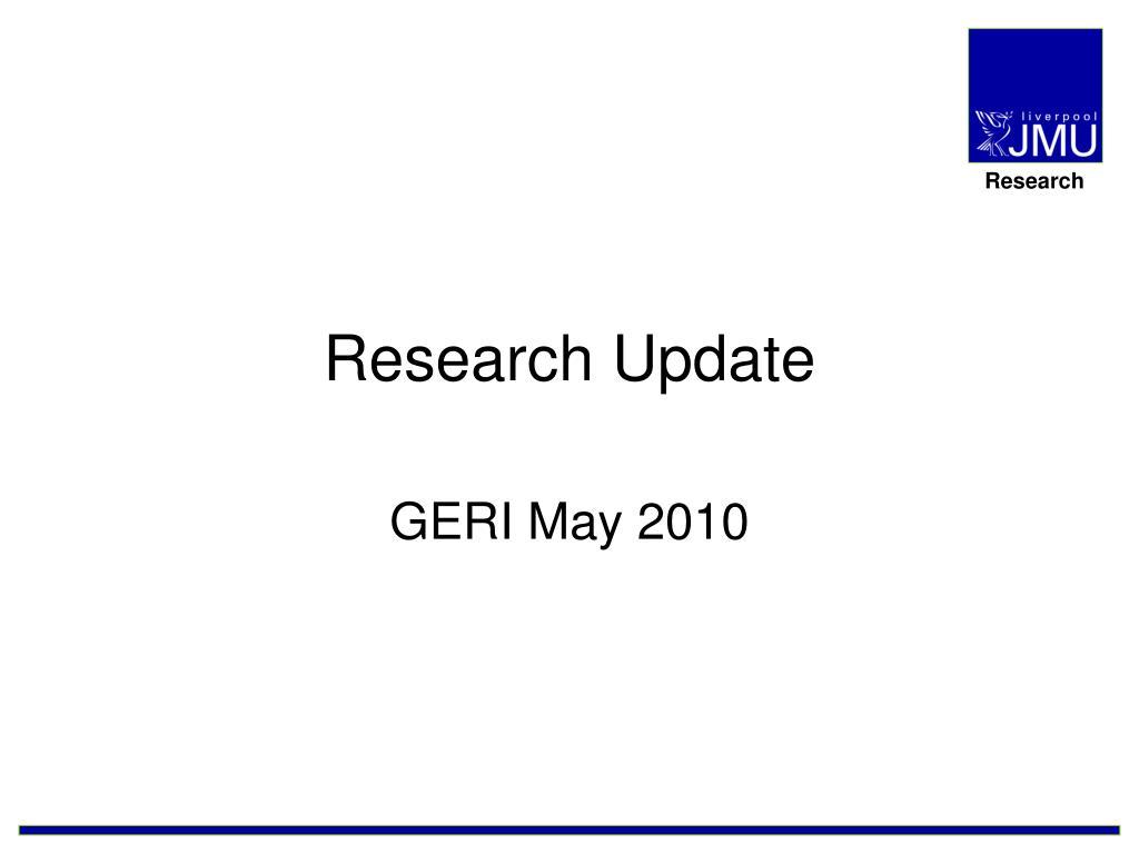 research update l.