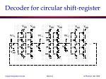 decoder for circular shift register