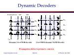 dynamic decoders