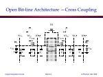 open bit line architecture cross coupling