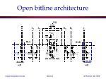 open bitline architecture
