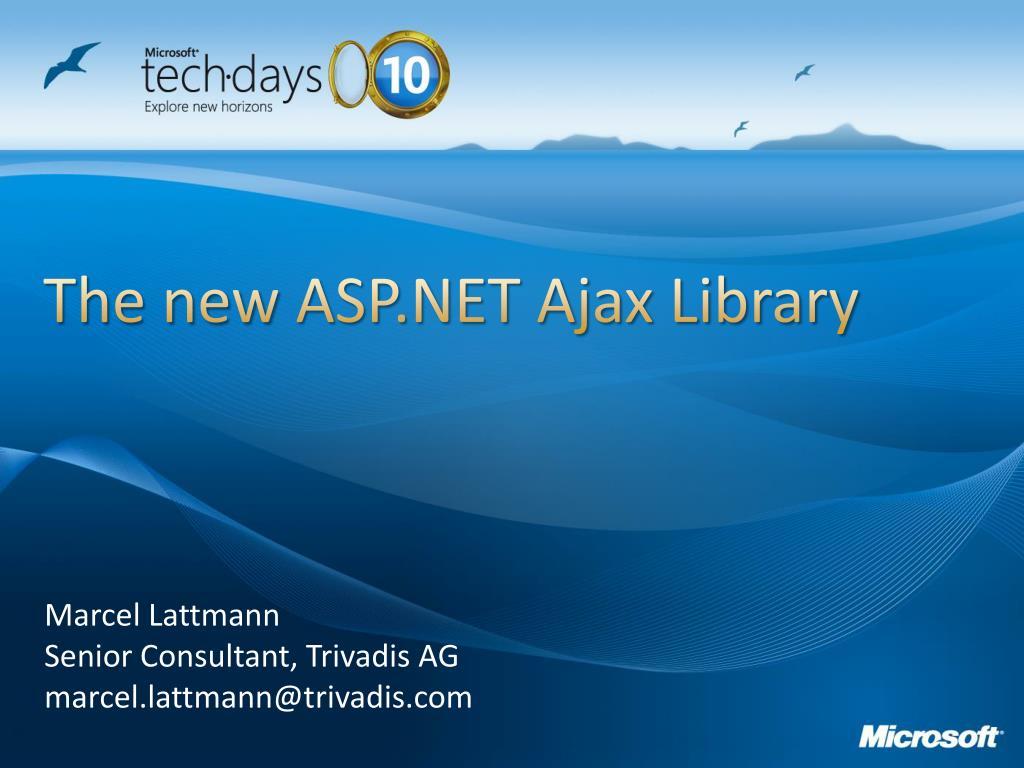 the new asp net ajax library l.