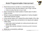 actel programmable interconnect