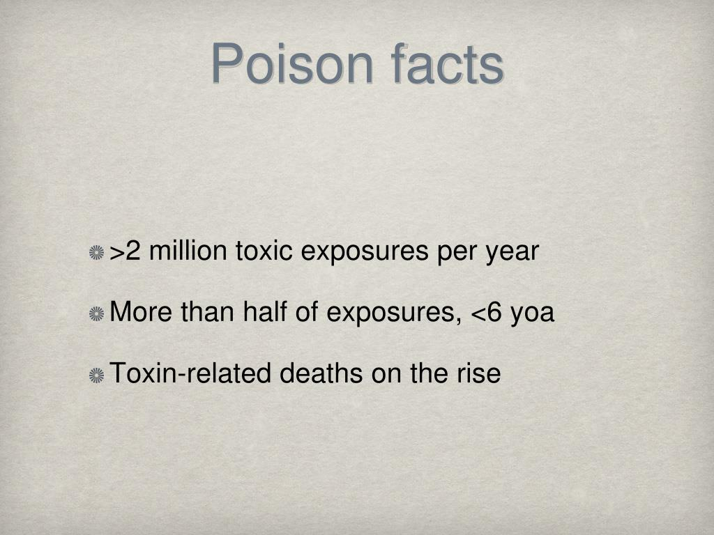 Poison facts