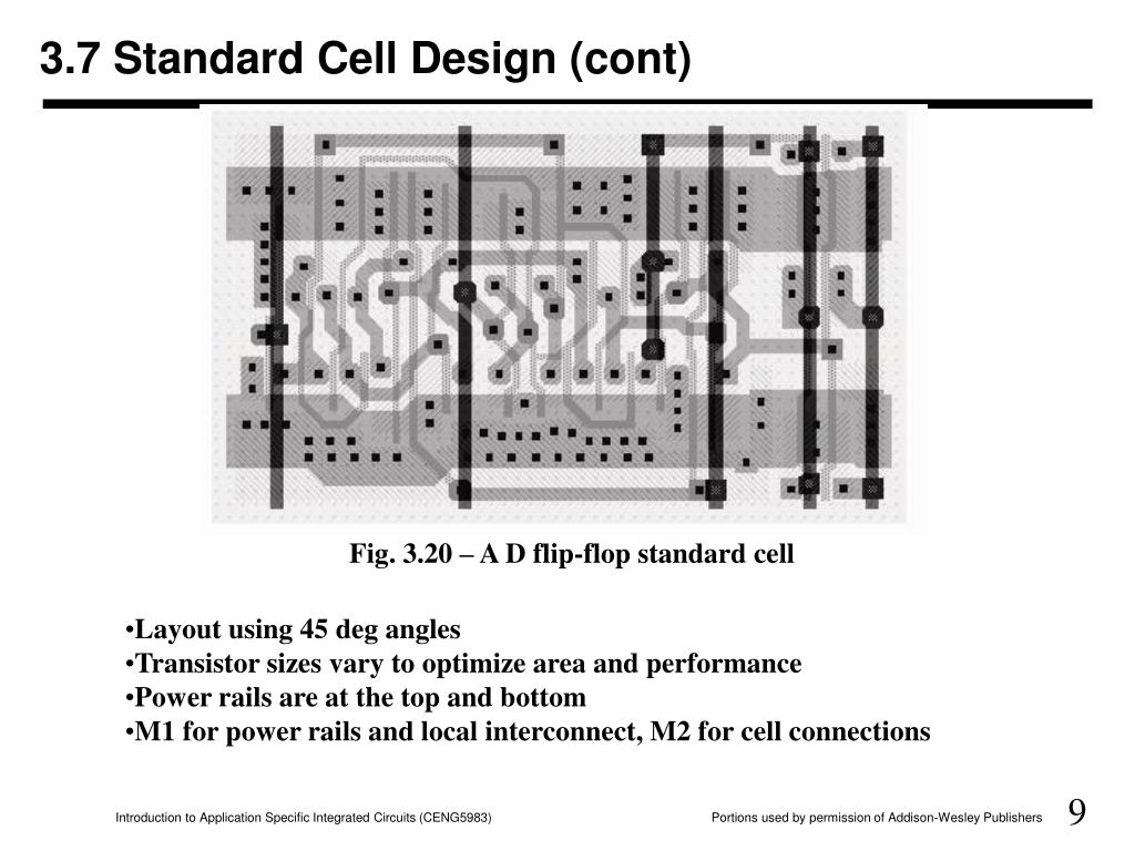 3.7 Standard Cell Design (cont)