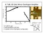 6 7 db 85 ghz mirror darlington amplifier