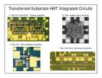 transferred substrate hbt integrated circuits
