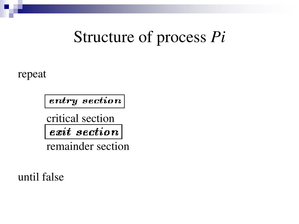 Structure of process