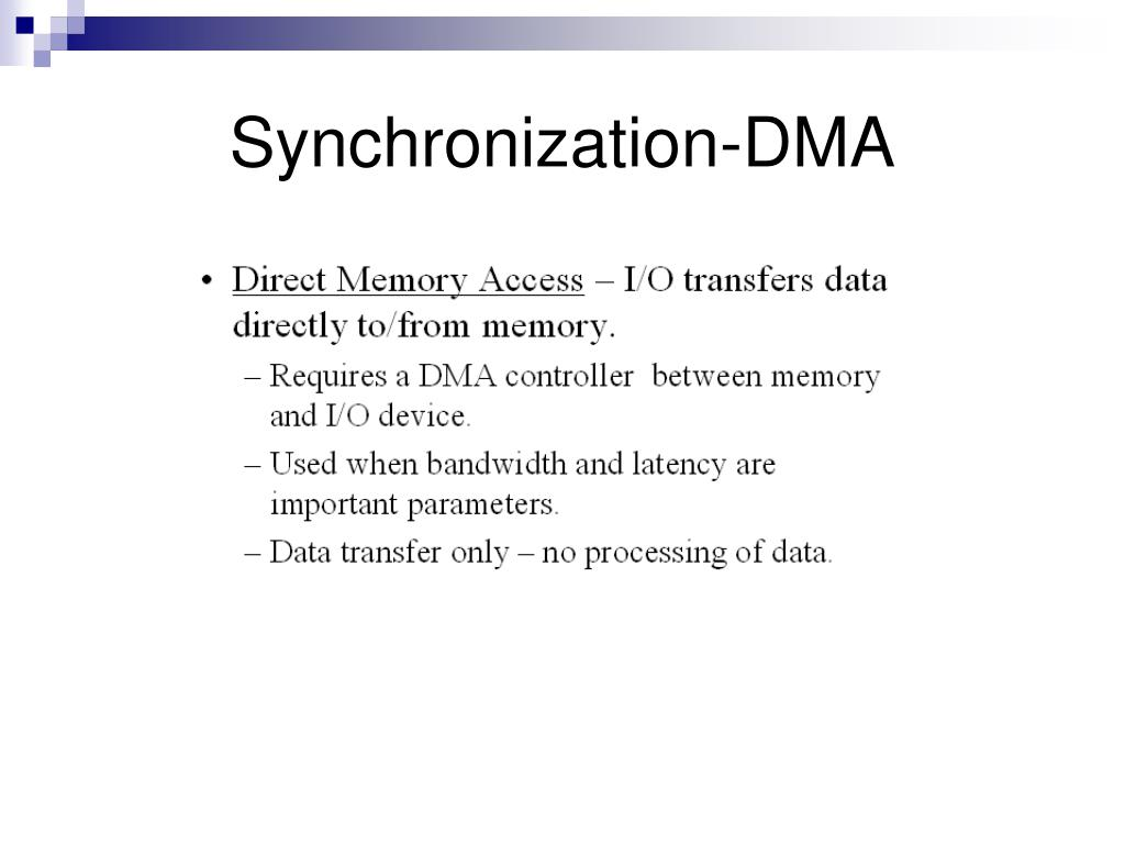 Synchronization-DMA