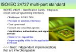 iso iec 24727 multi part standard