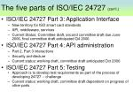 the five parts of iso iec 24727 con t