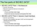 the five parts of iso iec 24727