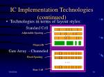 ic implementation technologies continued10