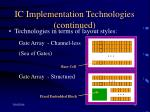 ic implementation technologies continued11