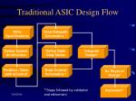 traditional asic design flow