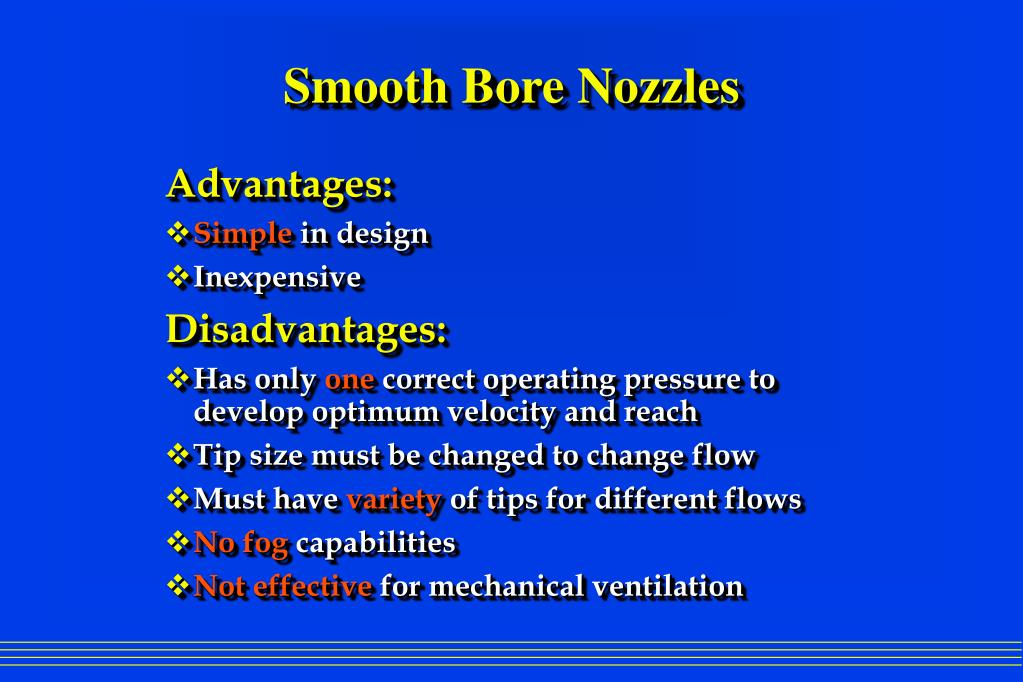 PPT Smooth Bore Nozzles Vs Combination Nozzles PowerPoint