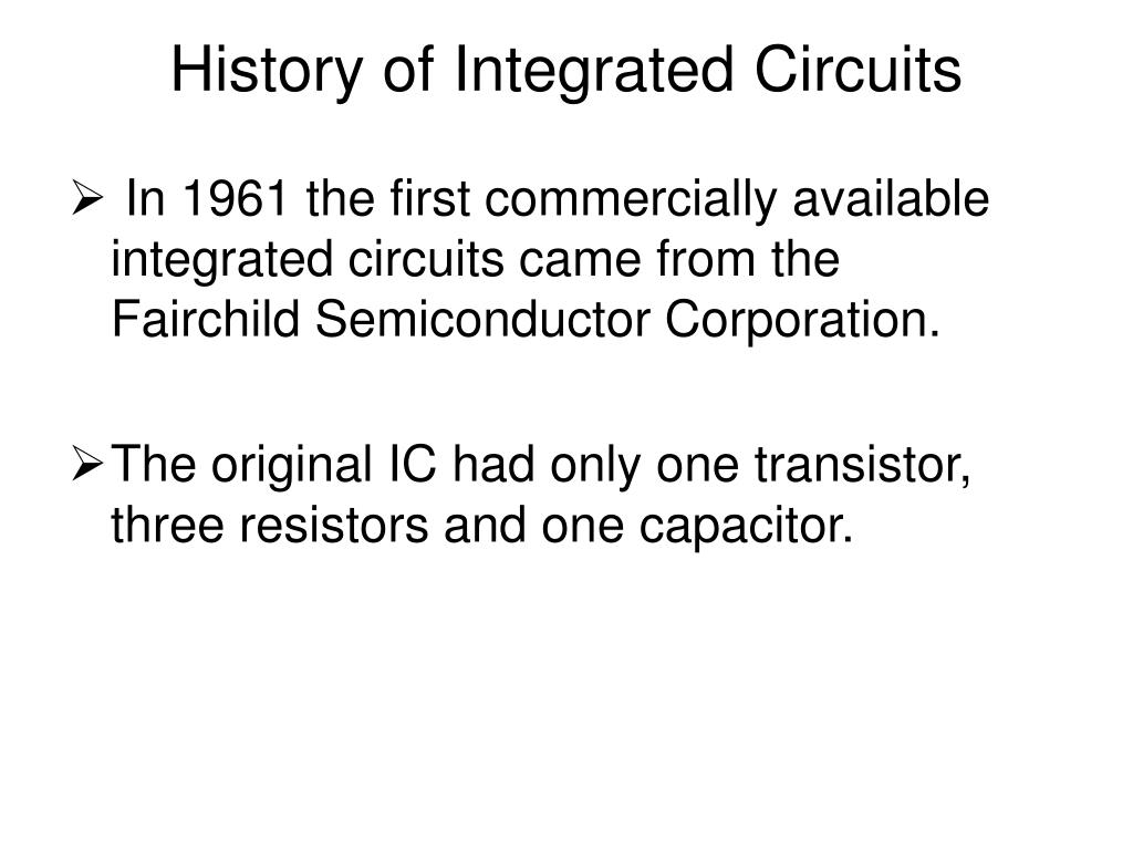 history of integrated circuits l.