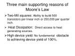 three main supporting reasons of moore s law