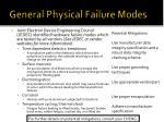 general physical failure modes