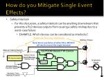 how do you mitigate single event effects