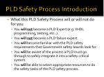 pld safety process introduction23