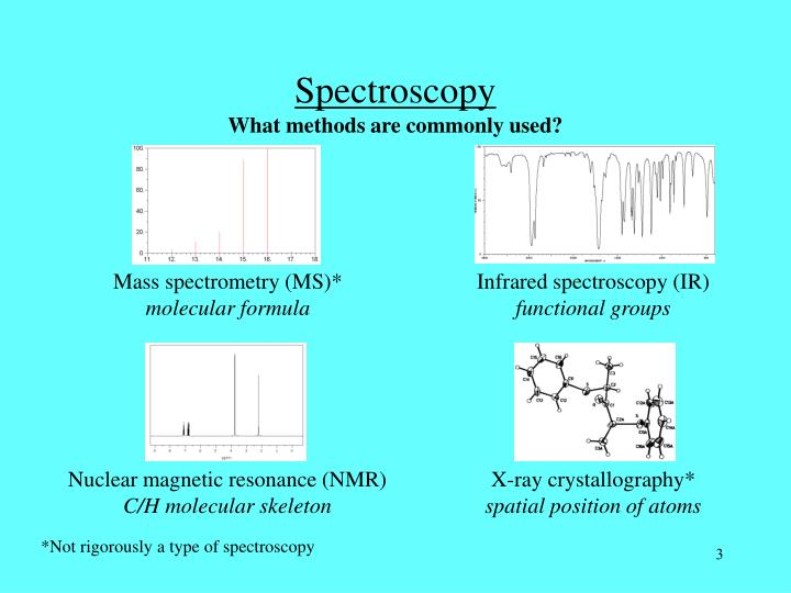 Spectroscopy what methods are commonly used