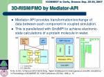 3d rism fmo by mediator api