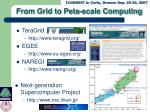 from grid to peta scale computing