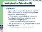multi physics extension 2