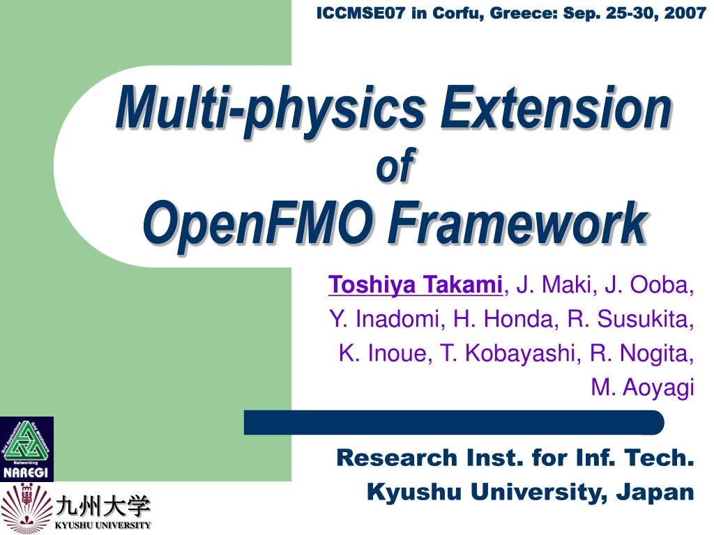 multi physics extension of openfmo framework l.