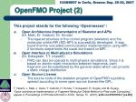 openfmo project 2
