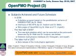 openfmo project 3