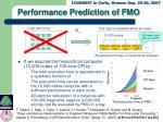 performance prediction of fmo