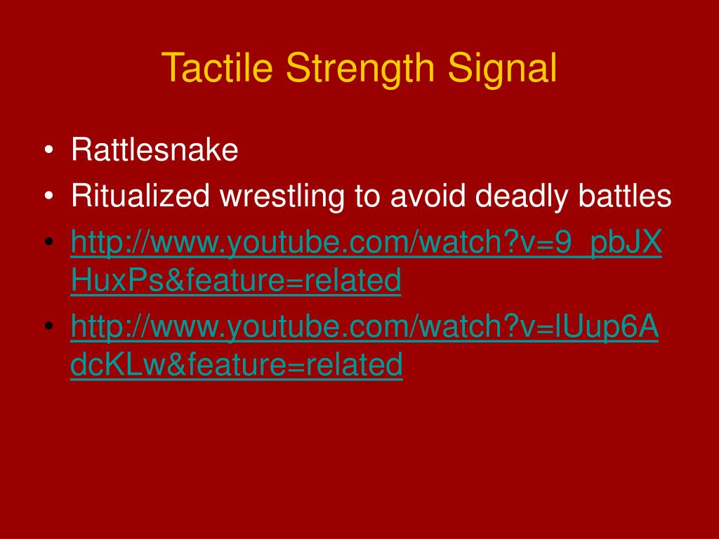 Tactile Strength Signal