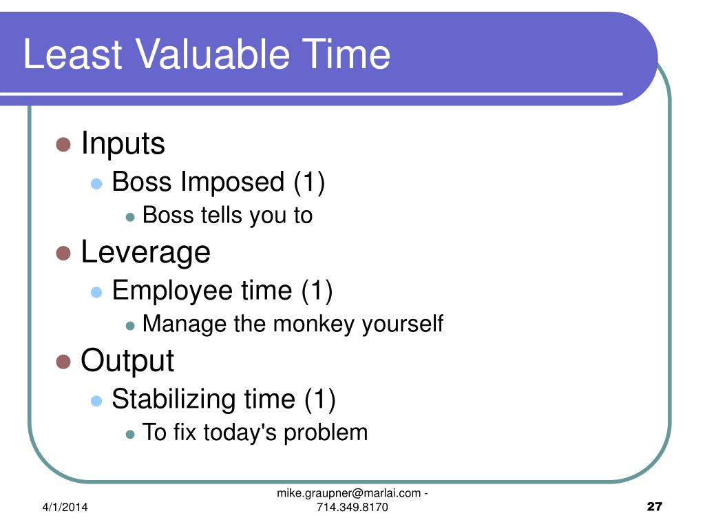 Least Valuable Time