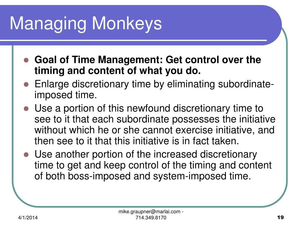 Managing Monkeys