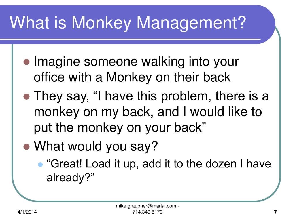 What is Monkey Management?