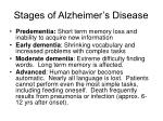 stages of alzheimer s disease