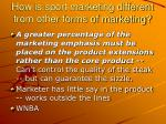 how is sport marketing different from other forms of marketing2