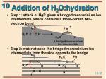 addition of h 2 o hydration35