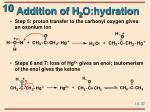 addition of h 2 o hydration37