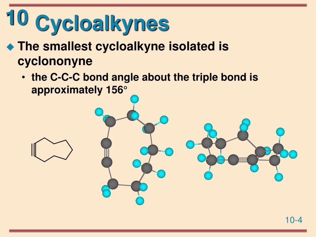 Cycloalkynes