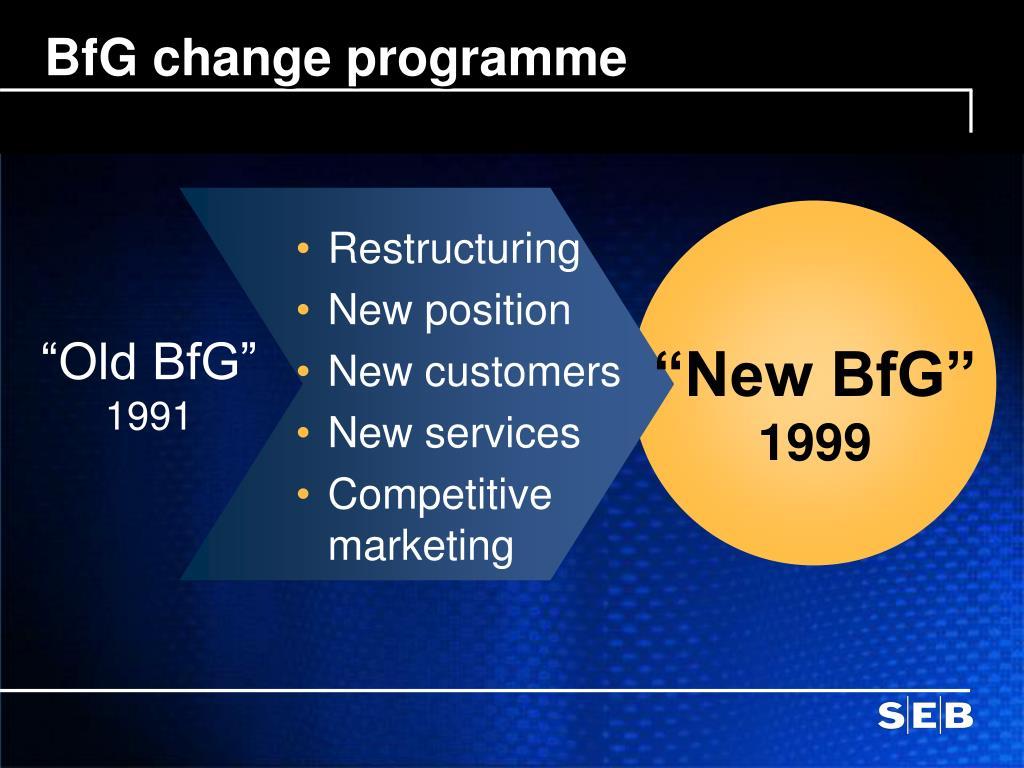BfG change programme