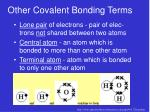 other covalent bonding terms