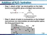 addition of h 2 o hydration25