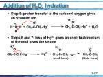 addition of h 2 o hydration27