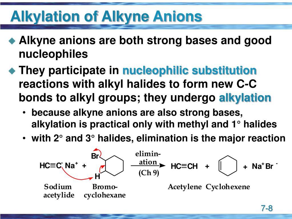 Alkylation of Alkyne