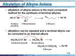 alkylation of alkyne anions9