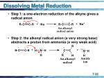dissolving metal reduction32
