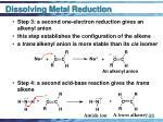 dissolving metal reduction33